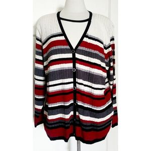 Vintage Alfred Dunner Striped  sweater